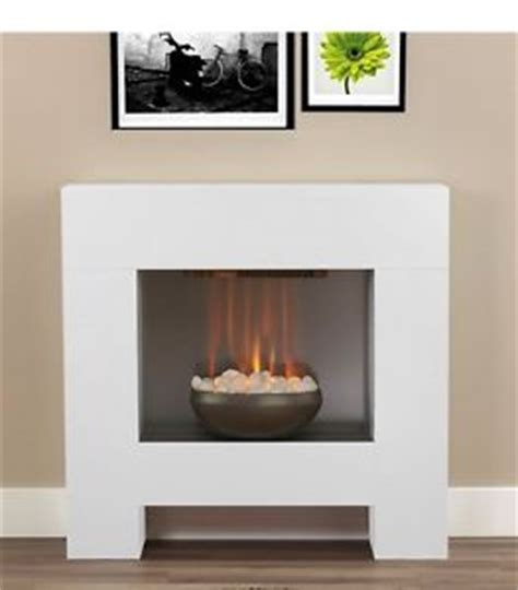 modern freestanding fireplaces modern white fireplace surround white pebbles electric