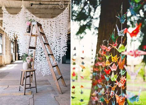 Origami Wedding Decor - how to make origami paper cranes for wedding backdrops