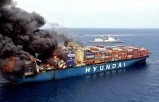 Hyundai America Shipping Felixstowe Dockers Container Ship Disasters