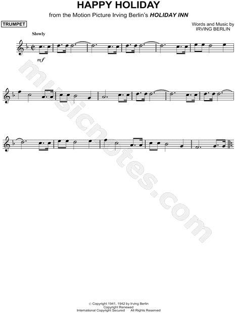 irving berlin happy holiday sheet  trumpet solo   major  print sku