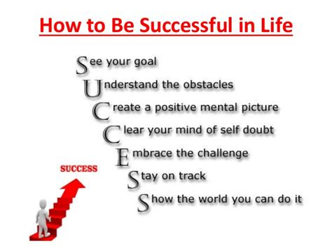 Be A Succes how to be successful in