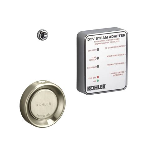kohler steam adapter kit in vibrant brushed nickel k 1737 bn the home depot