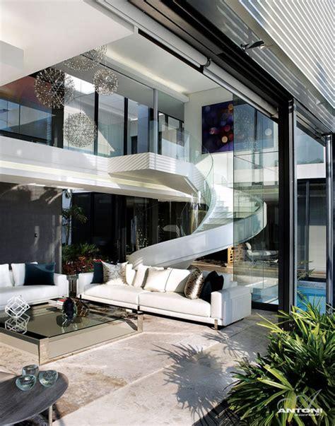 Living Room Johannesburg U Shaped Modern Residence In Johannesburg Displaying