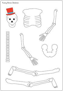funny bones moving skeleton cut out free early years