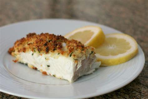 baked halibut and parmesan crumb topping recipe