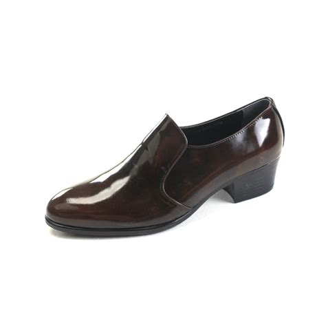 heel loafers s brown cow leather high heel loafers