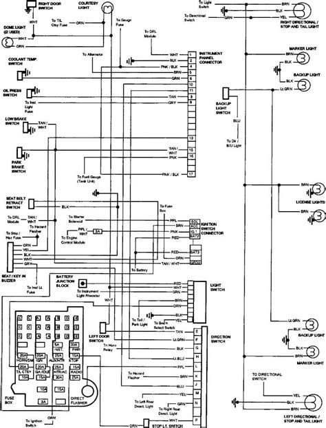1989 gmc light wiring diagram wiring diagrams