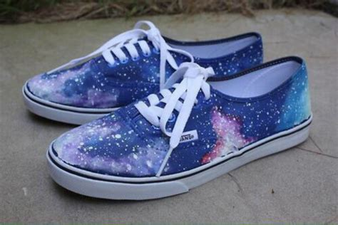 Sepatu Vans Galaxy shoes galaxy print vans galaxy vans wheretoget
