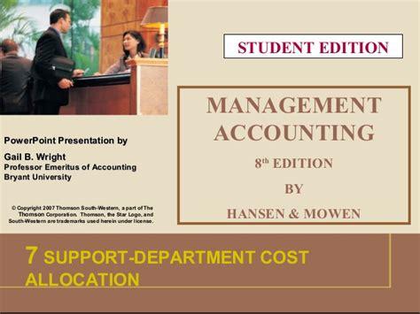 Akuntansi Manajemen 1 Edisi 7 Hansen Wowen akuntansi manajemen edisi 8 oleh hansen mowen bab 7