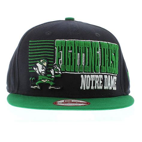 notre dame colors notre dame team colors the borderline green snapback