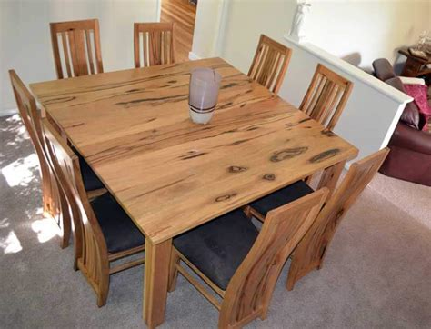 8 Seater Square Dining Table Quot Mindarie Quot Marri 8 Seat Square Dining Table Jarrimber
