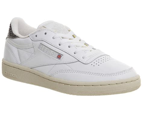 Reebok Bd2854 Grey White 39 reebok club c 85 white snow grey sneaker herren