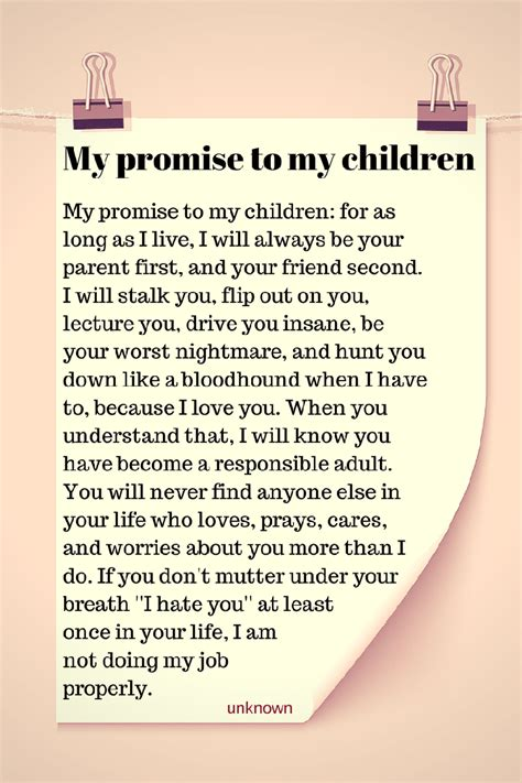 to my poem my promise to my children