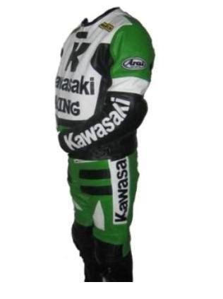 Motorrad Lederkombi F Rben by Kawasaki R Racing 1 Motorrad Lederkombi