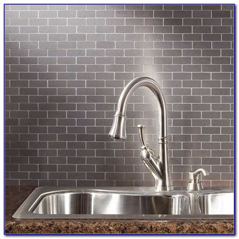 stainless subway tile backsplash stainless steel subway tiles backsplash tiles home