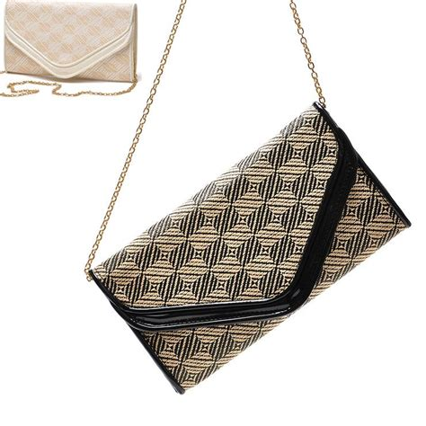 Slingbag Clutch Fashion h1506 neo baroque checkered envelope bag fashion designer chain sling bag evening bag clutch