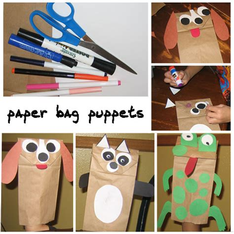 How To Make Paper Puppets - how to make paper bag puppets preschool crafts