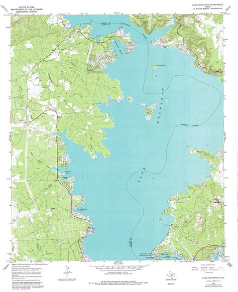 texas lake maps lake buchanan topographic map tx usgs topo 30098g4