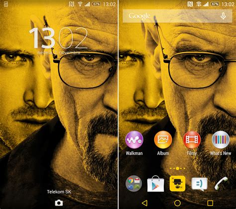 colour themes breaking bad get xperia breaking bad theme with android l breath style