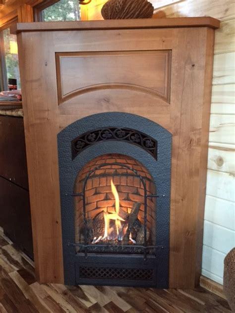tiny house fireplace simblissity tiny homes stone cottage