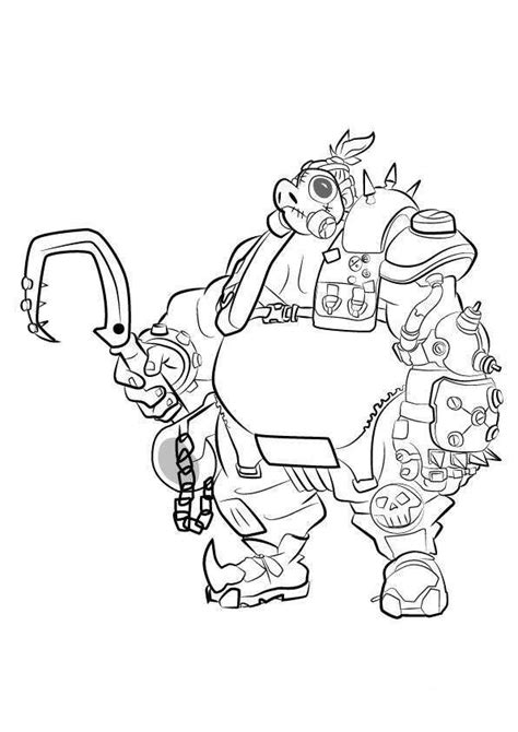 overwatch coloring book 1945683066 kids n fun com coloring page overwatch road hog silhouette projects ideas ephemera