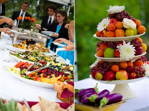 Vibrant And Casual Buffet Style Reception Dinner And Buffet Style Wedding