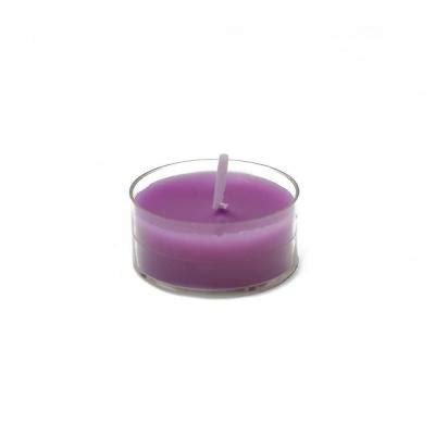 zest candle 1 5 in purple tealight candles 50 pack ctz 016 the home depot
