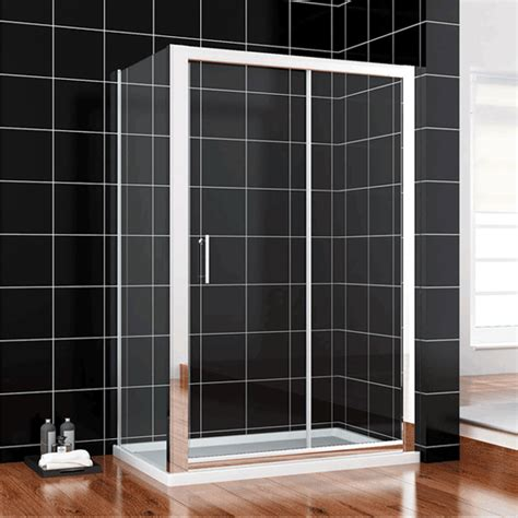 Shower Tray And Sliding Door by 1400x800mm Sliding Shower Enclosure Glass Screen Cubicle Doors Side Panel Tray Ebay