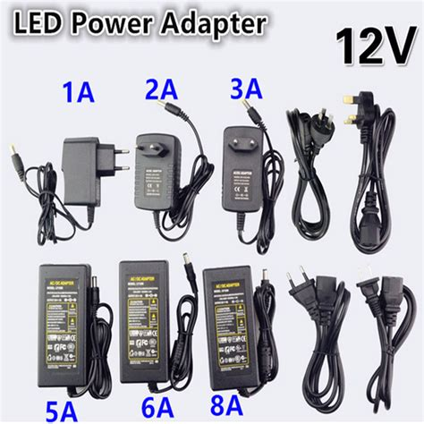 Promo Adaptor Dc 12v 1a In 220v Ac Power Supply 2 1x5 5mm Adapter Led new dc led power supply charger transformer adapter 1a 12 5a 110v 220v to 12v for led 5050