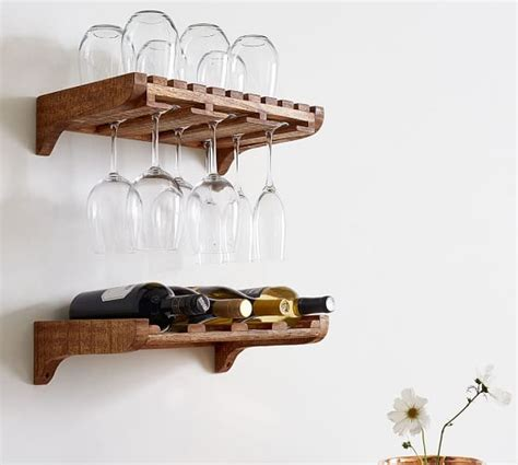 Pottery Barn Wine Rack Wall by Harlow Wall Mounted Wine Storage Pottery Barn