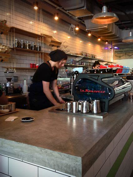 cafe bench menu concrete bench top tomandserg coffee maker a melbourne