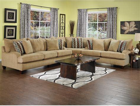 Brick Living Room Furniture Putty Chenille Sectional Beige The Brick