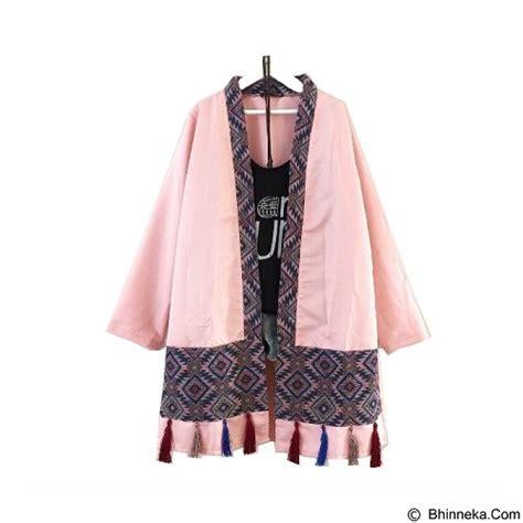 Tassel Tunik by Jual Modenesia Tassel Outer Dusty Pink Merchant Murah