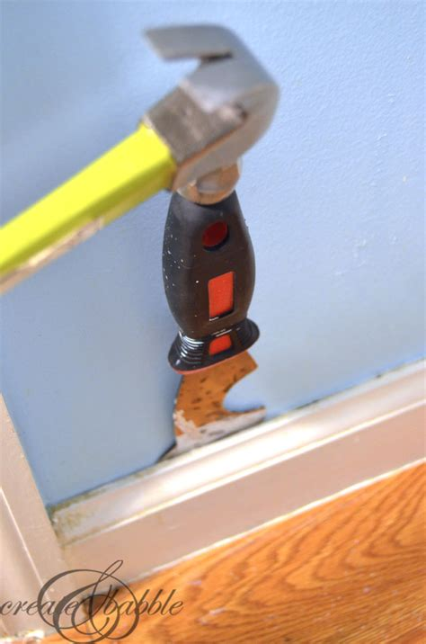 removing paint from exterior wood trim powder room makeover about the trim create and babble