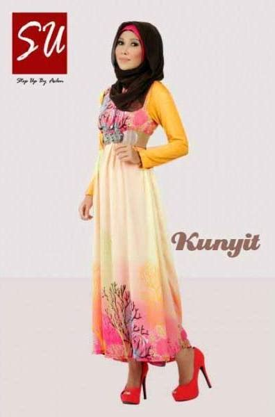 Baju Muslim Rabbani Fatin su aashka kunyit baju muslim gamis modern
