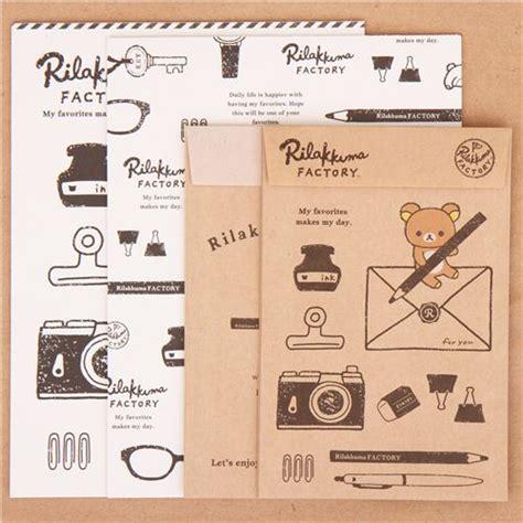 Rillakuma Japan Letter Set brown white rilakkuma factory pen ink letter paper