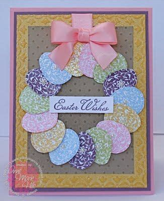 Easter Handmade Crafts - easter blossom wreath by anne marie cards and paper