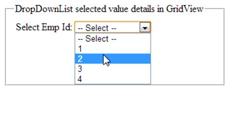design label in asp net how to get dropdownlist selected value and fill details in