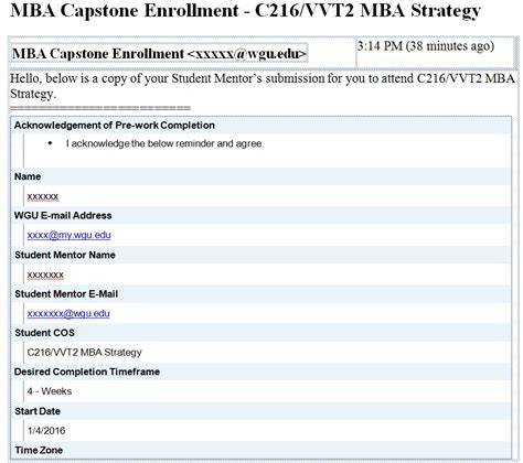 Can You Finish The Wgu Mba Capstone In 2 Weeks by Mba Journal Pareto Guide