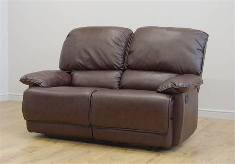 Leather Sofa On Clearance Clearance 2 Seater Brown Leather Recliner Sofa T826 Ebay