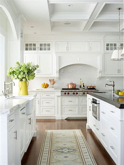 white cottage kitchen white cottage kitchen ideas countertops cabinets and coffered ceilings