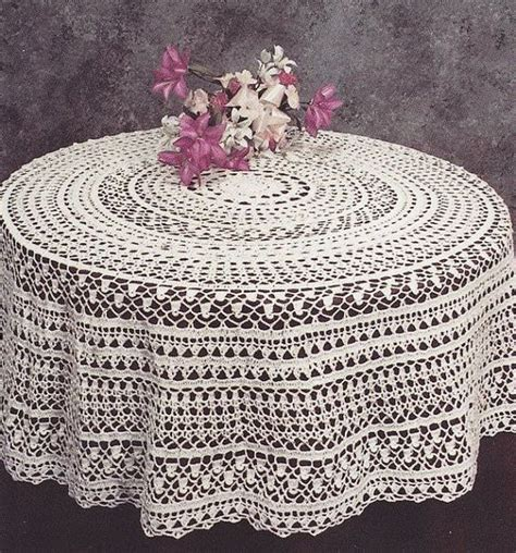 pattern crochet tablecloth round tablecloth crochet pattern pdf instant download