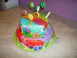 tutorial lego in pdz fancy food cakes una torta hippy quot summer of love quot a