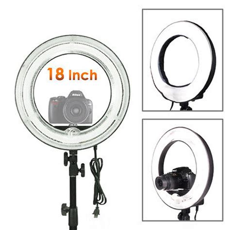 fluorescent dimmable ring light 18 quot fluorescent 75w dimmable ring light w bag portrait