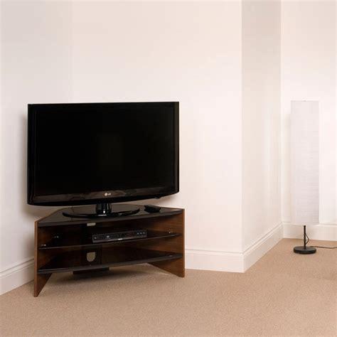 Lcd Tv Shelf by Walnut 3 Black Glass Shelf Corner Lcd Plasma Tv Stand 32