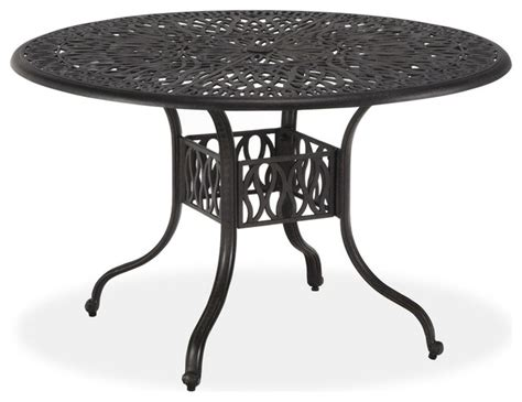 Floral Blossom 48 Inch Round Dining Table Transitional 48 Inch Patio Table