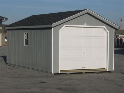 Garage Prebuilt by Amish Built 12x24 A Frame Garage Storage Shed Duratemp