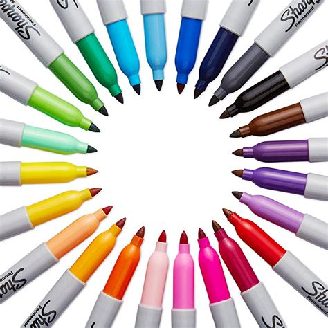 color markers sharpie tip permanent marker 24 pack assorted colors