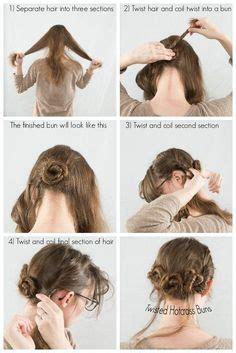 hair twisted around front of head bun three twisted buns hairstyle hair hair hair