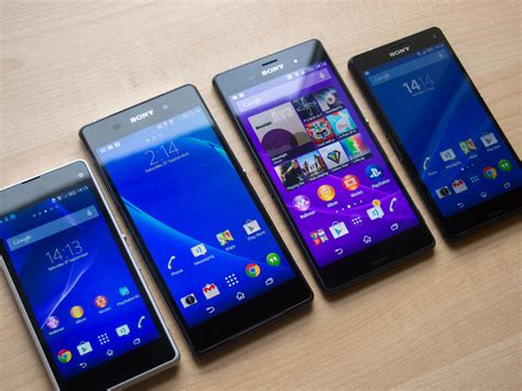 Hp Sony Experia Z1 Z2 Z3 in pictures sony xperia z3 z3 compact versus z2 z1 compact android central